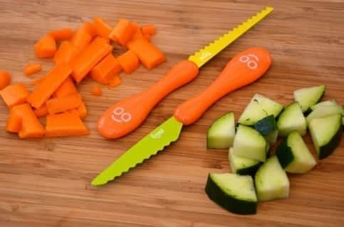 child-kid-safe-knives-on-bench-with-vegetables