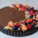 salted-chocolate-tart-on-plate