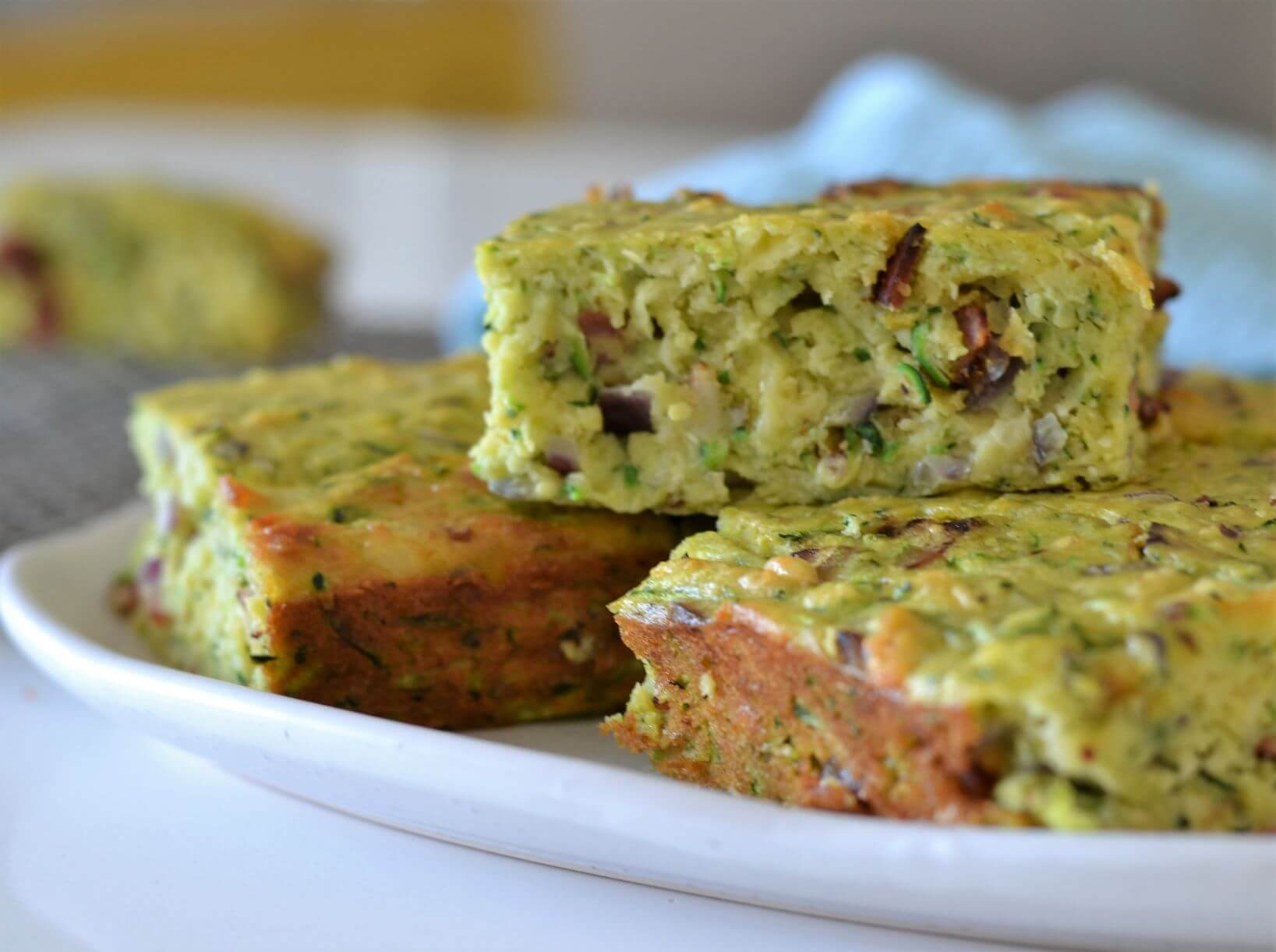 zucchini-slice-on-plate