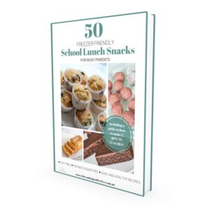 close up of a book cover with school lunchbox snacks and food