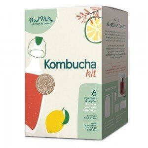 close up of a box labelled 'kombucha kit'