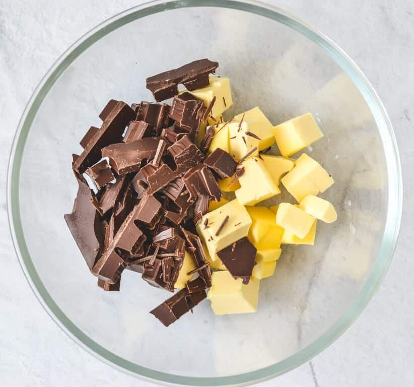 butter-and-chocolate-in-mixing-bowl