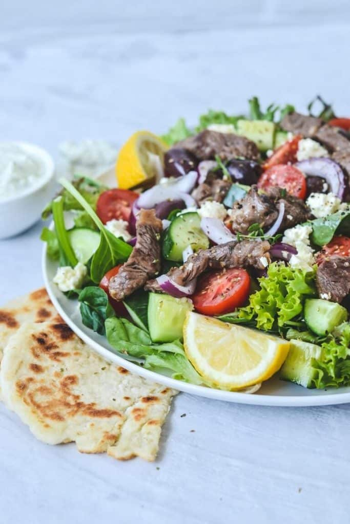 Greek Lamb Salad With Tzatziki The Cooking Collective