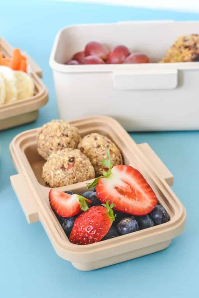 bento lunchbox with healthy foods