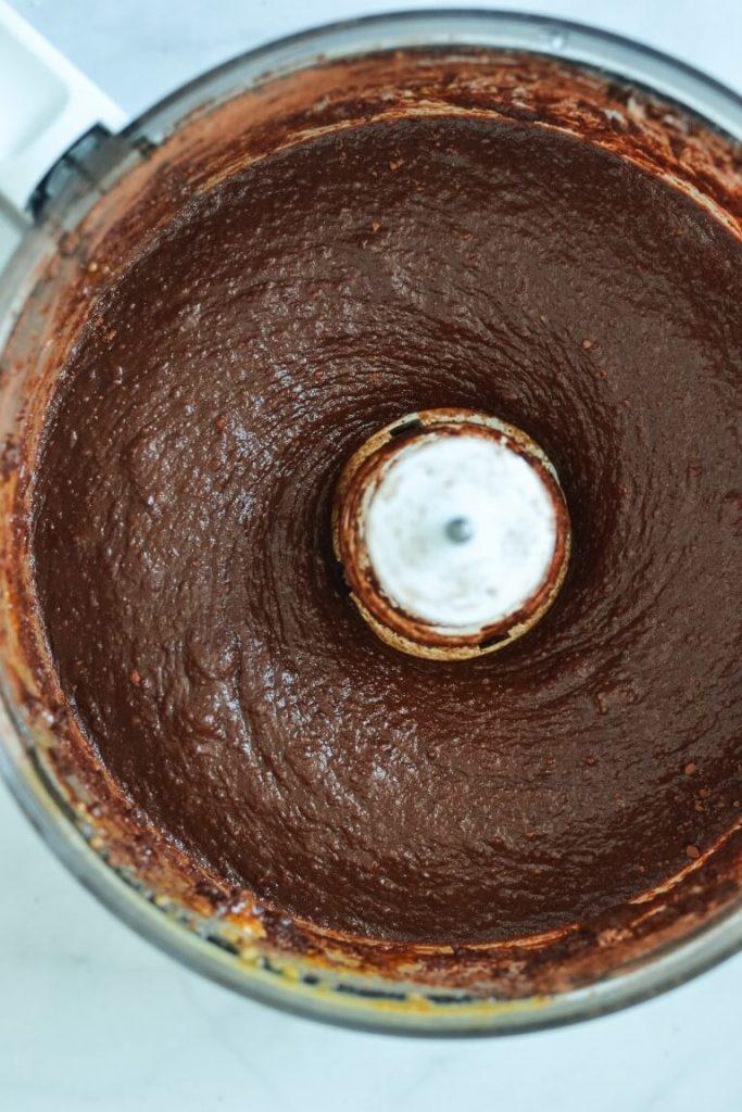 blended-brownie-ingredients-in-food-processor