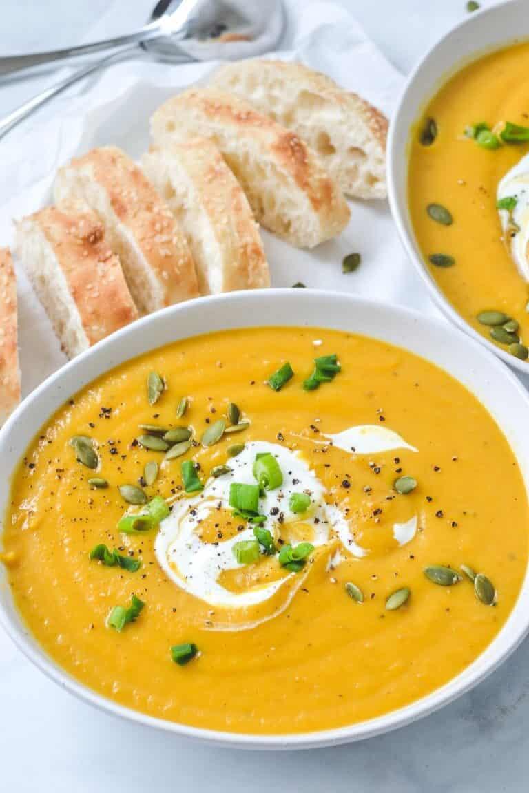 roast-pumpkin-soup-in-white-bowls