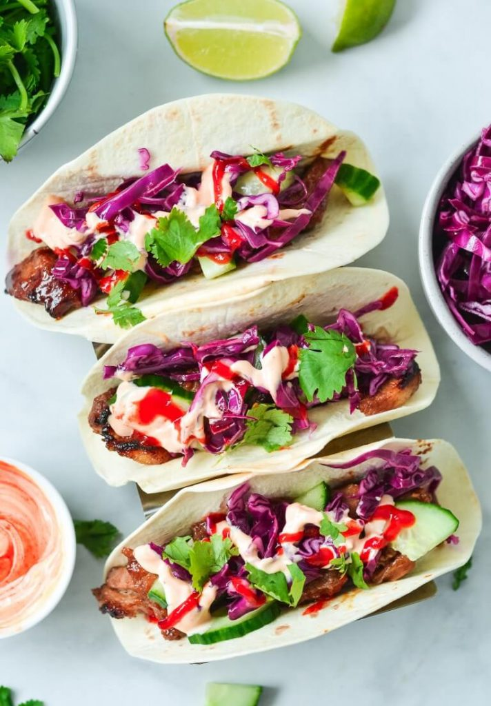 bbq-pork-tacos-with-salad