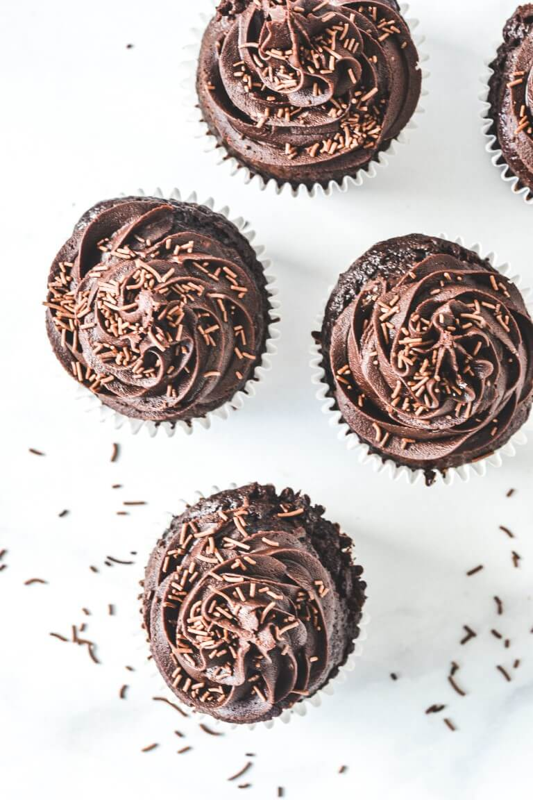 top-view-of-chocolate-cupcake-frosting