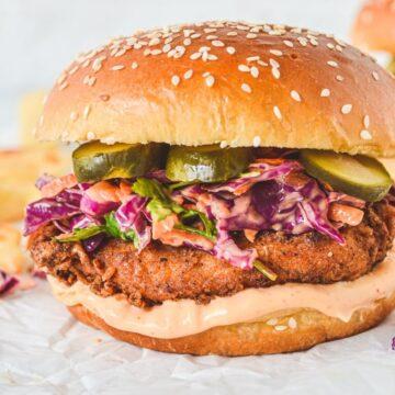 chicken-burger-on-white-paper