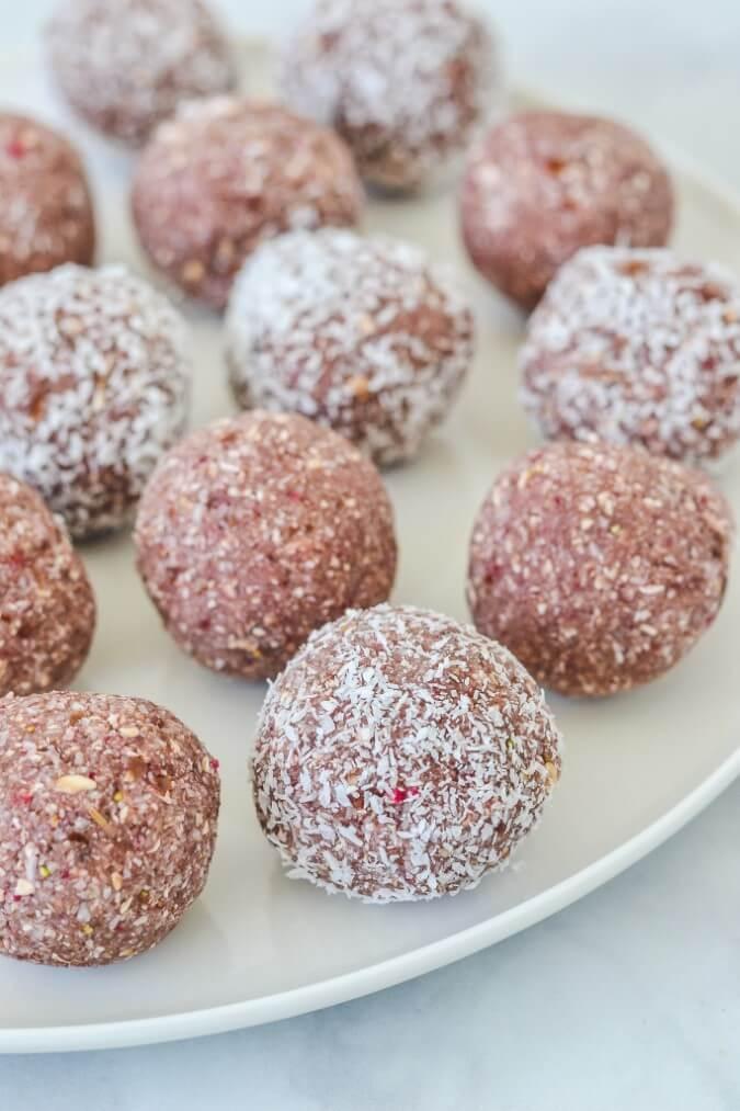 bliss-balls-on-white-plate