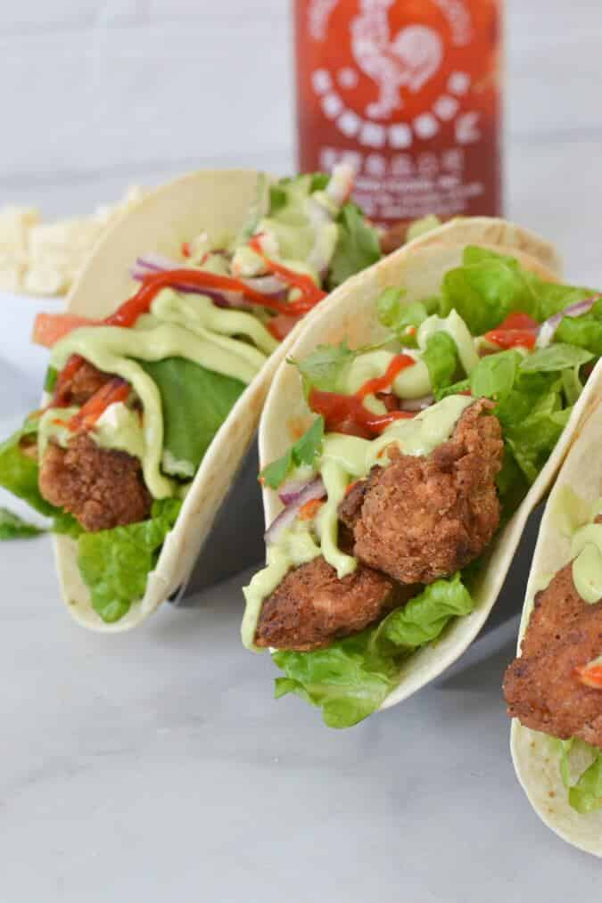 chicken-tacos-on-metal-stand