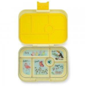 open-yellow-bento-box