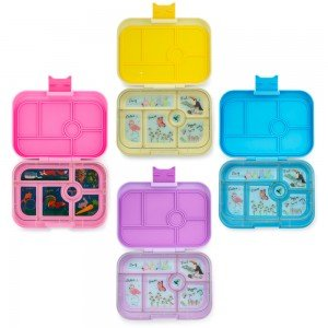 four-bento-lunchboxes-of-different-colours-open