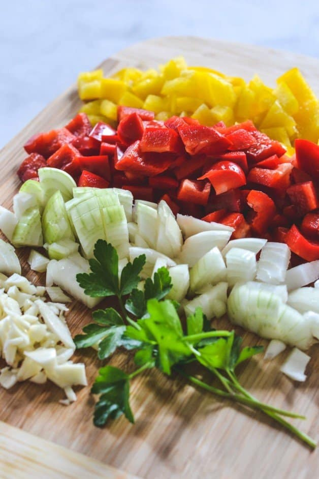 chopped-vegetables-on-wooden-board