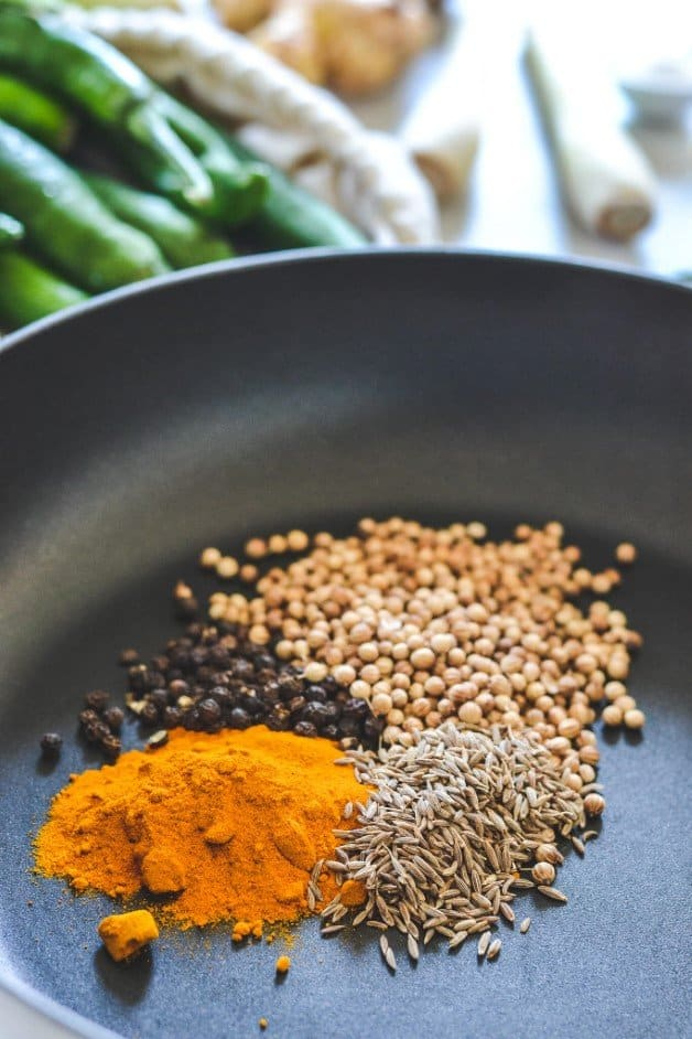turmeric-and-spices-in-frying-pan