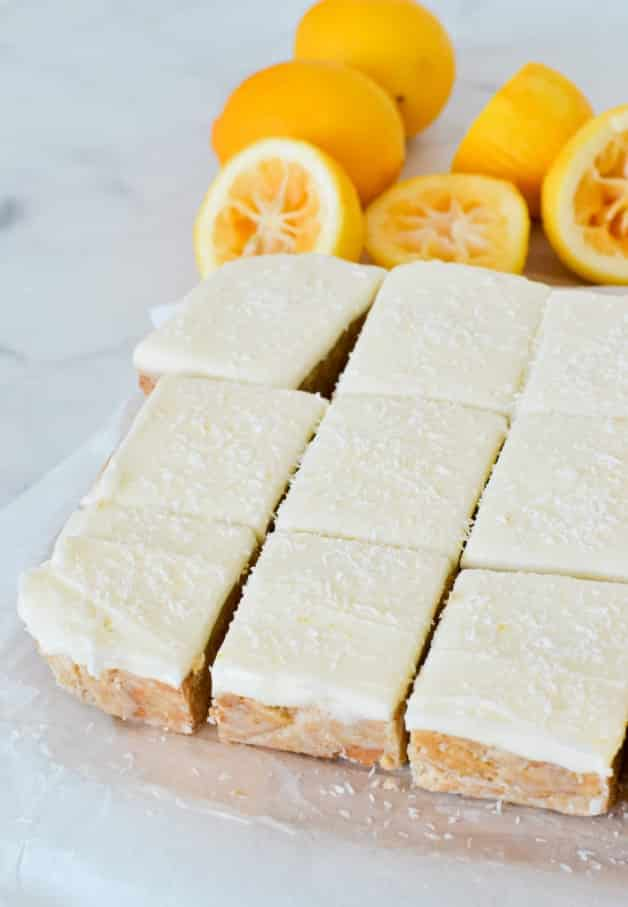 pieces-of-lemon-slice-squares-on-chopping-board