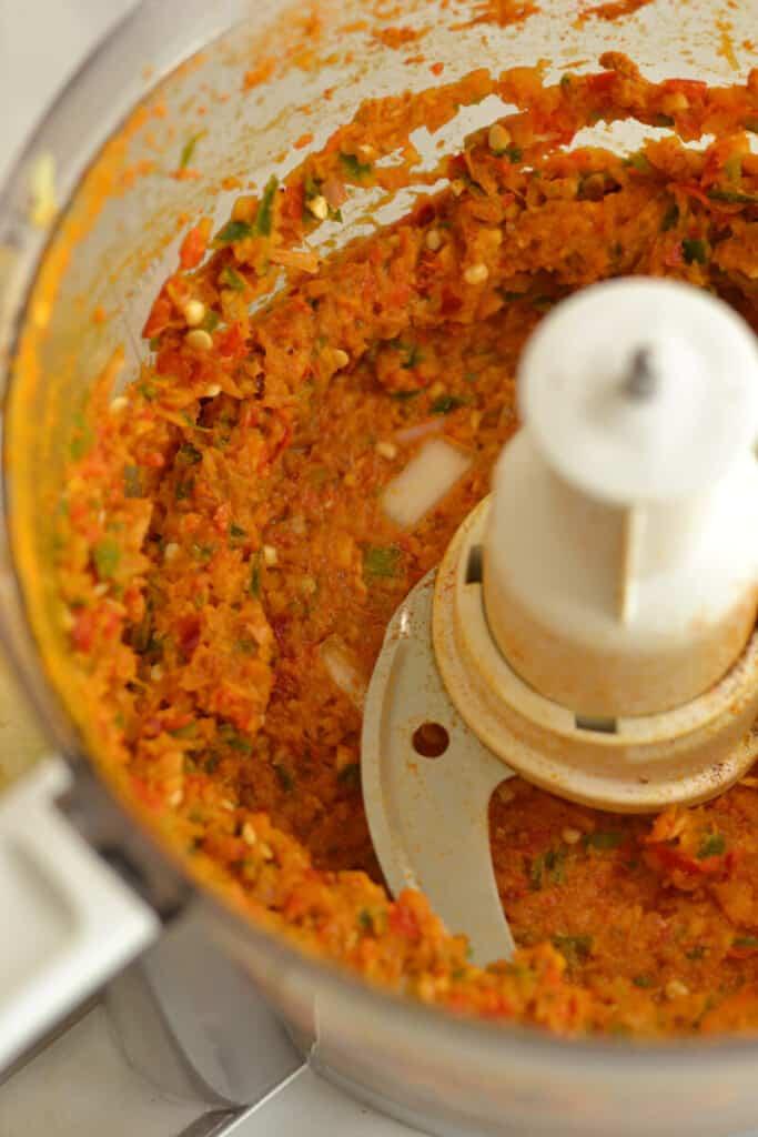 chilli paste in food processor
