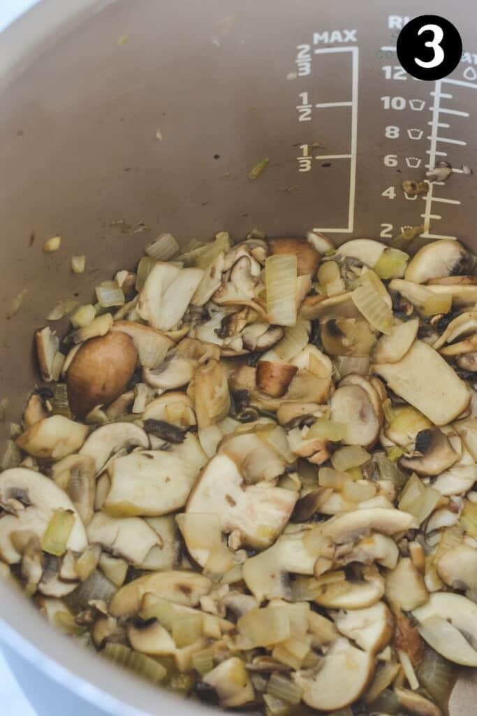 browned mushrooms in a pot